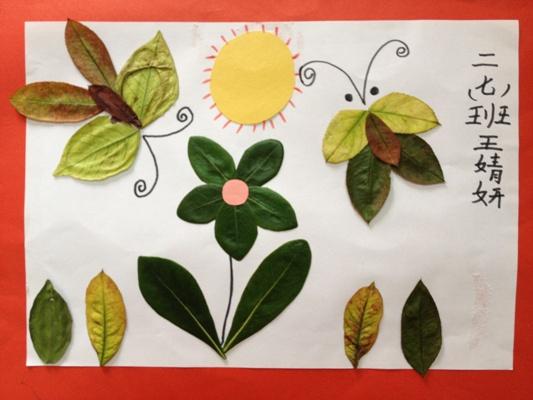 银杏叶树叶贴画展示图片