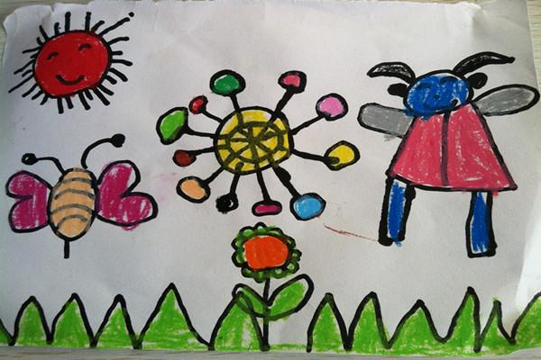 幼儿绘画长大的我