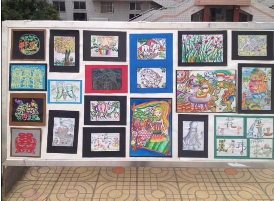 六年级艺术节绘画展板(1)