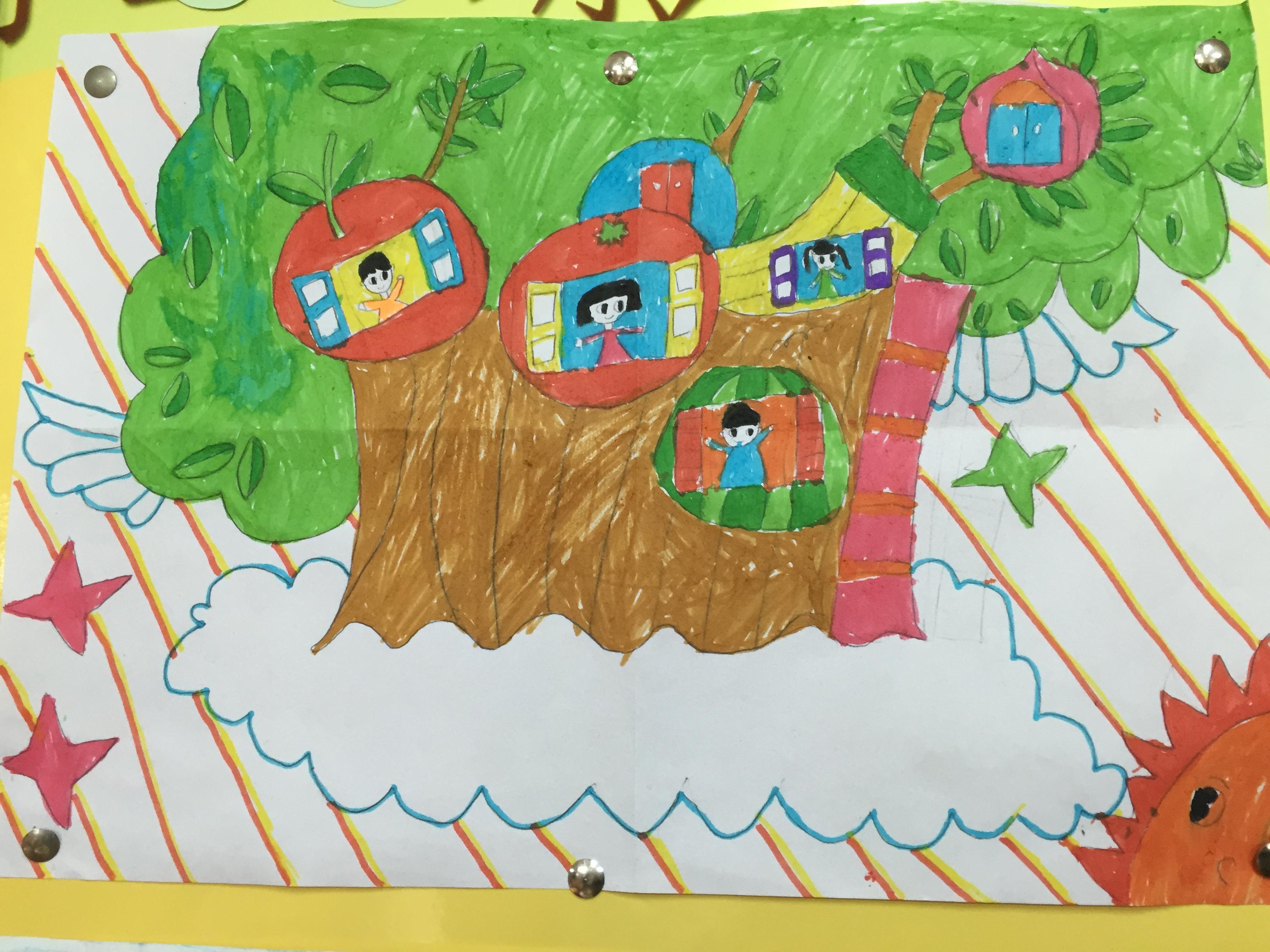 幼儿园数学房子手工画