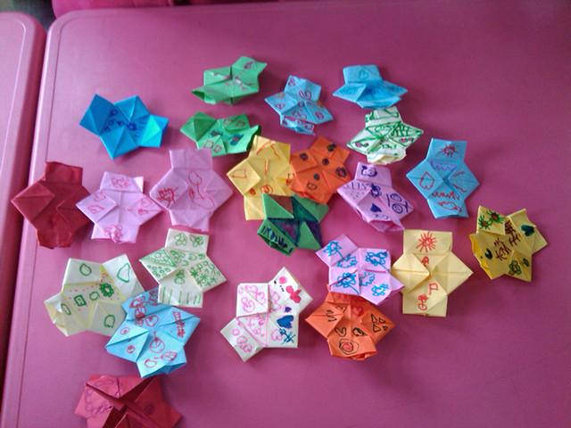 幼儿折纸灯笼步骤图