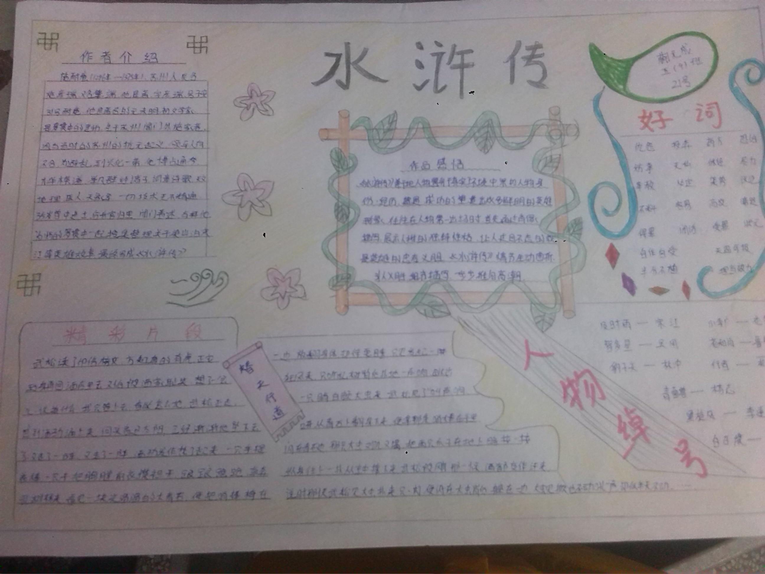 水浒传手抄报中学生